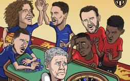 کاریکاتور تیم منچستریونایتد و هادرزفیلد,کاریکاتور,عکس کاریکاتور,کاریکاتور ورزشی