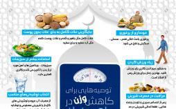اینفوگرافیک راهکارهای رژیم در ماه رمضان