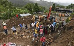 عکس رانش زمین در کلمبیا,تصاویر رانش زمین در کلمبیا,عکس خسارات رانش زمین در کلمبیا