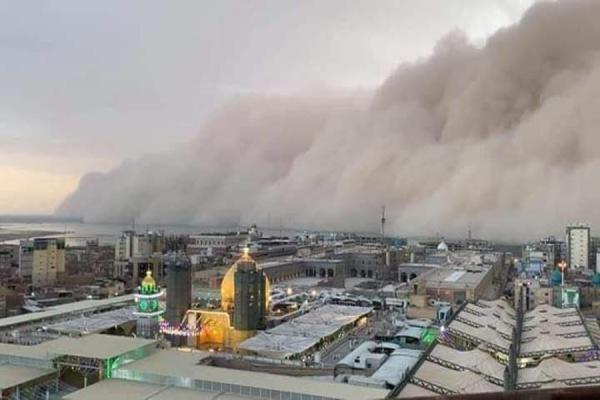 توفان در کربلا و نجف,اخبار حوادث,خبرهای حوادث,حوادث طبیعی