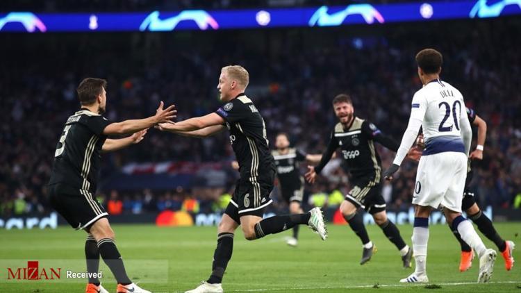 تصاویر دیدار تیم آژاکس و تاتنهام,عکس های رقابت های فوتبالی,تصاویر رقابت لیگ قهرمانان اروپا
