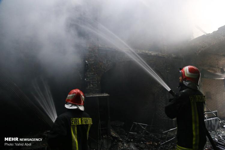 تصاویر بازار تبریز پس از آتش سوزی,عکس های بازار تبریز,تصاویری از خسارت به بازار تبریز بعد از آتش گرفتن