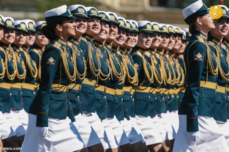 تصاویر رژه ی زنان نظامی روس,عکس های رژه ی زنان نظامی روس,تصاویرزنان نظامی روس