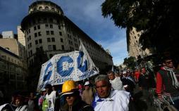 تجمعات در آرژانتین,کار و کارگر,اخبار کار و کارگر,اعتراض کارگران
