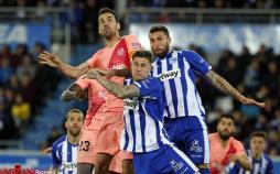 تصاویر دیدار تیمهای بارسلونا و آلاوس,تصاویر دیدارهای فوتبالی,عکس های تیم بارسلونا