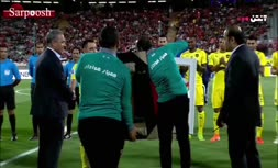 فیلم/ خداحافظی ژاوی با همراهی پرسپولیسی ها و برانکو در ورزشگاه آزادی