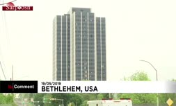 فیلم/ لحظه انفجار و تخریب آسمانخراش ۲۱ طبقه در آمریکا