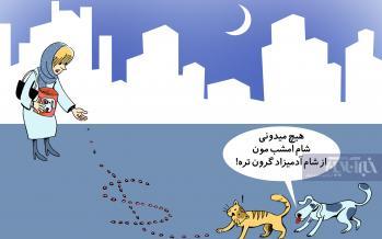 کارتون واردات غذای سگ و گربه,کاریکاتور,عکس کاریکاتور,کاریکاتور اجتماعی