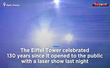 فیلم/ جشن صد و سیامین سال تولد برج ایفل