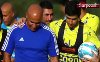 فیلم/ پیام احساسی منصوریان برای خداحافظی خسرو حیدری