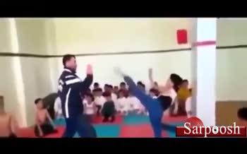 فیلم/ کتک زدن بچهها به اسم آموزش کاراته
