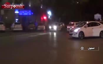 فیلم/ تصادف جنجالی پورشه در اصفهان