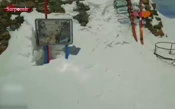 ویدئو/ بارش بیسابقه برف در ارتفاعات شمال تهران