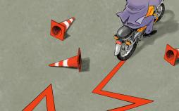 کاریکاتور حرکات خلاف قانون موتورسواران,کاریکاتور,عکس کاریکاتور,کاریکاتور اجتماعی