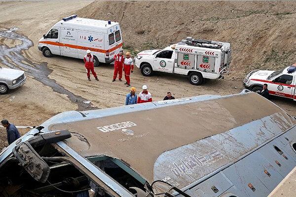 واژگونی اتوبوس تبریز تهران,اخبار حوادث,خبرهای حوادث,حوادث