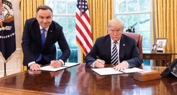 ترامپ و رئیس جمهور لهستان,اخبار سیاسی,خبرهای سیاسی,اخبار بین الملل