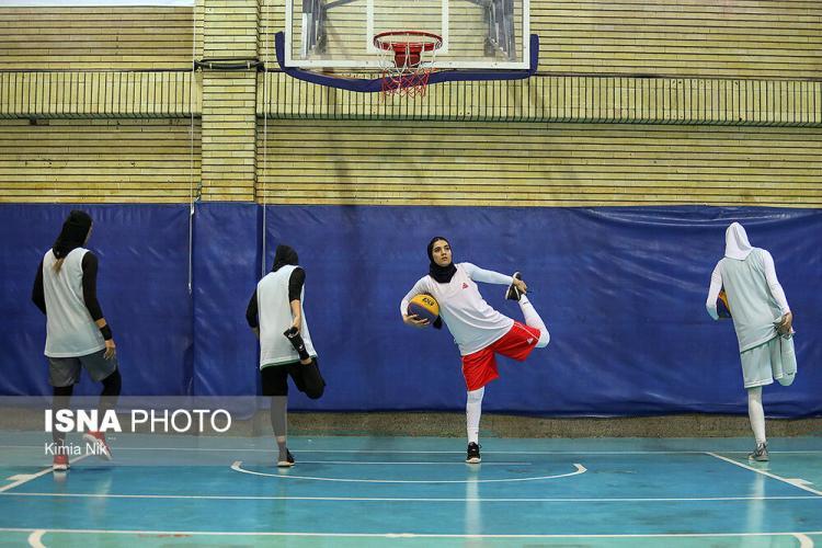 تصاویر تمرینات تیم ملی بسکتبال سه نفره بانوان, عکس های تمرینات آماده سازی بسکتبال سه نفره بانوان,تصاویر آماده سازی بازیکنان تیم بسکتبال سه نفره بانوان