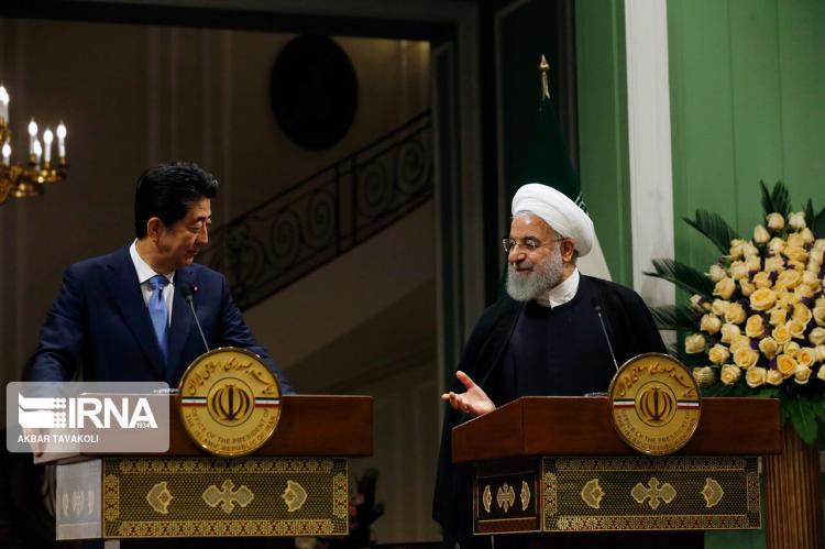 تصاویر مذاکره ی حسن روحانی و شینزوآبه,عکس های مذاکره ی حسن روحانی و شینزوآبه,تصاویر رئیس جمهور ایران