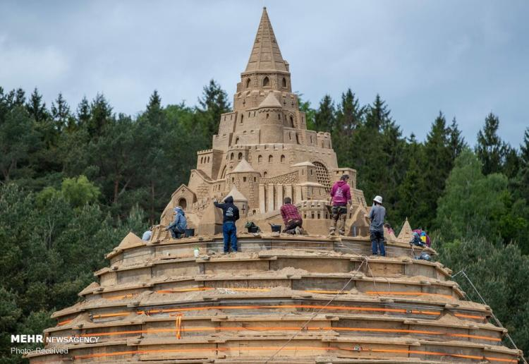 تصاویر قلعه شنی در آلمان,عکس های قلعه شنی در آلمان,تصاویر بلندترین قلعه شنی جهان