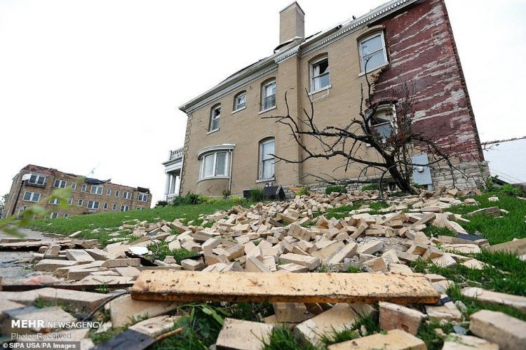 تصاویر طوفان در آمریکا,عکس های خسارات طوفان در آمریکا,تصاویر حوادث طبیعی آمریکا