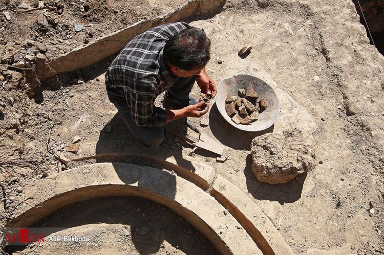 تصاویر معبد لائودیسه در نهاوند,تصاویر اکتشاف بخش هایی از معبد لائودیسه در نهاوند,عکس های معبد لائودیسه
