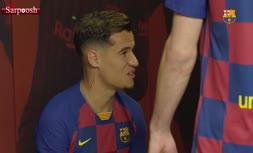 فیلم/ رونمایی از لباس بارسلونا در فصل 20-2019