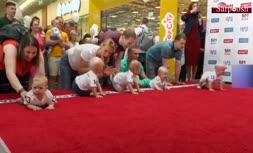 فیلم/ مسابقه دو نوزادان در لیتوانی