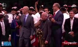 فیلم/ مراسم اهدای جام قهرمانی بسکتبال لیگ NBA به تیم رپتورز فصل 19-2018