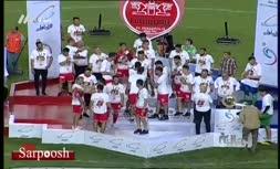 فیلم/ مراسم اهدای جام قهرمانی رقابتهای حذفی به تیم پرسپولیس