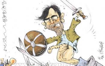 کاریکاتور ماموریت علی خطیر,کاریکاتور,عکس کاریکاتور,کاریکاتور ورزشی