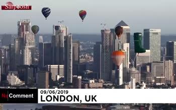 فیلم/ پرواز بالنها بر فراز لندن
