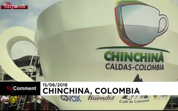 فیلم/ بزرگترین فنجان قهوه جهان در کلمبیا