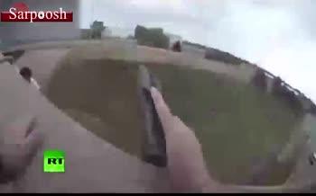 فیلم/ پریدن از پل ۹ متری برای فرار از دست پلیس