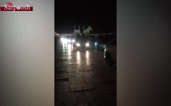 فیلم/ ورود مسئولین با خودرو به میدان نقش جهان اصفهان
