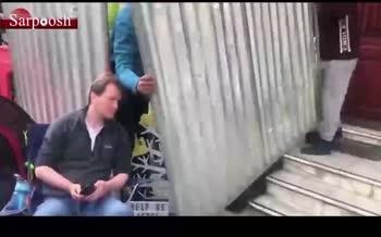 فیلم/ رفتار عجیب سفارت ایران در لندن با همسر زاغری!