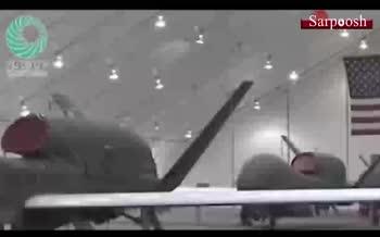 فیلم/ لحظه هدف قرار گرفتن پهپاد آمریکایی RQ-4 توسط سپاه پاسداران