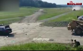 فیلم/ له شدن BMW با تانک آلمانی!