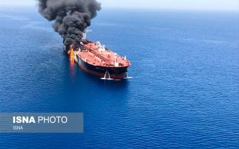تصاویر آتش سوزی نفتکش خارجی در دریای عمان,عکس های آتش سوزی نفتکش خارجی در دریای عمان,تصاویر دریای عمان