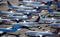 عکس های بوئینگ های بدون مشتری,تصاویر هواپیماهای بوئینگ های بدون مشتری,عکس هواپیماهای بوئینگ 737 در پارکینگ
