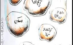 کاریکاتور مشکلات اقتصادی در کنار حواشی سلبریتی ها,کاریکاتور,عکس کاریکاتور,کاریکاتور اجتماعی