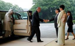تصاویر دیدار رئیس جمهور ترکیه و امپراتور ژاپن,تصاویر دیدار اردوغان و ناروهیتو,تصاویر حضور اردوغان در قصر امپراتوری ژاپن
