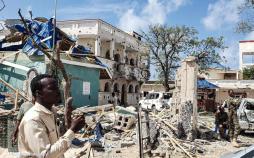 تصاویر حمله مرگبار به هتلی در سومالی,عکس های حمله مرگبار به هتلی در سومالی,تصاویر شهر کیسمایوی سومالی