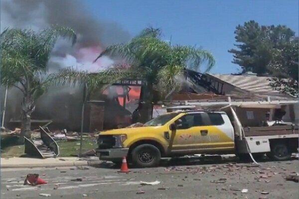 انفجار خط لوله گاز در کالیفرنیایجنوبی,اخبار حوادث,خبرهای حوادث,حوادث امروز