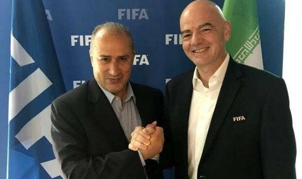 رئیس فیفا و مهدی تاج,اخبار فوتبال,خبرهای فوتبال,فوتبال ملی