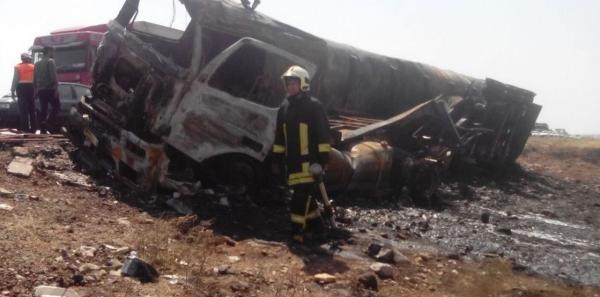 آتشسوزی تانکر حمل سوخت در سبزوار ۲ کشته برجا گذاشت