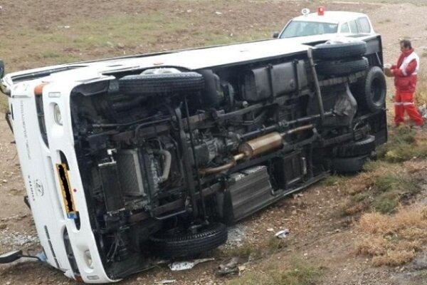 دو حادثه مینی بوس در مازندران,اخبار حوادث,خبرهای حوادث,حوادث
