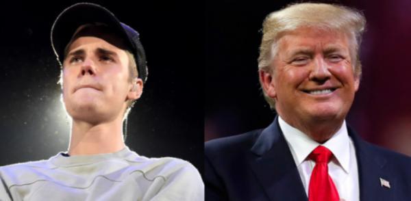 جاستین بیبر و دونالد ترامپ,اخبار هنرمندان,خبرهای هنرمندان,موسیقی