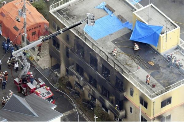 آتش سوزی شرکت کیوتو انیمیشن,اخبار حوادث,خبرهای حوادث,حوادث امروز