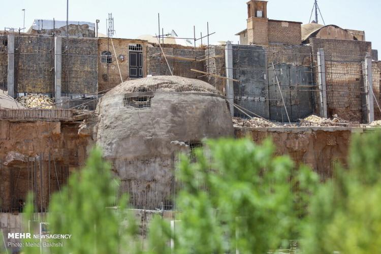 تصاویر آب انبار قدیمی در قم,عکس های آب انبار قدیمی در قم,تصاویر کشف آب انبار قدیمی
