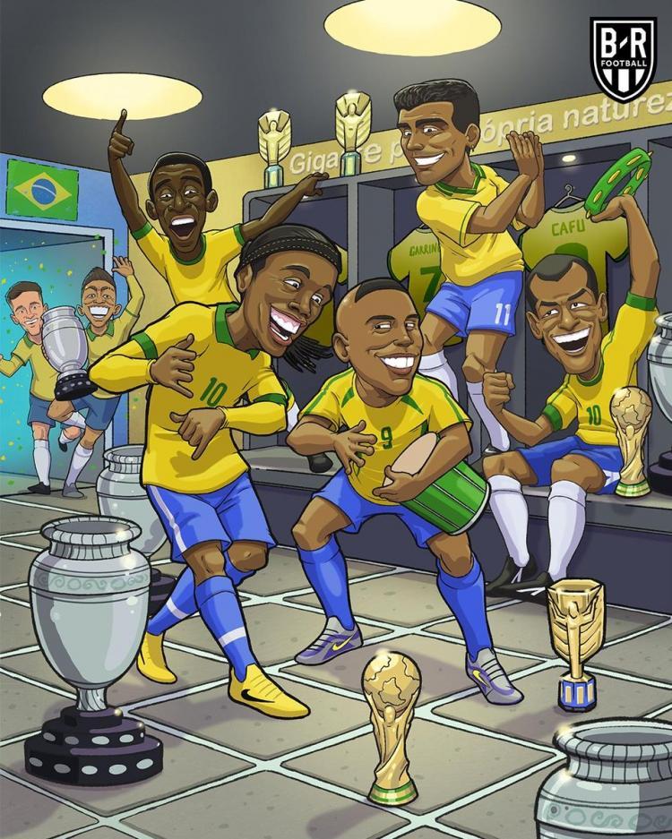 کاریکاتور پیروزی تیم ملی فوتبال برزیل,کاریکاتور,عکس کاریکاتور,کاریکاتور ورزشی